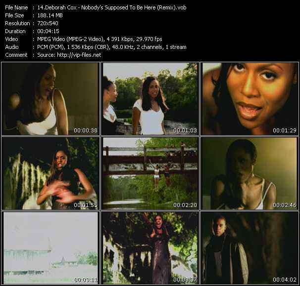 Screenshot of Music Video Deborah Cox - Nobody's Supposed To Be Here (Remix)
