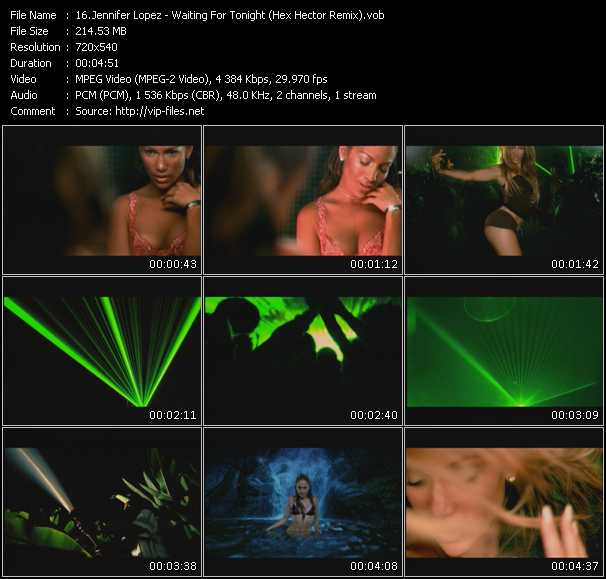 Screenshot of Music Video Jennifer Lopez - Waiting For Tonight (Hex Hector Remix)