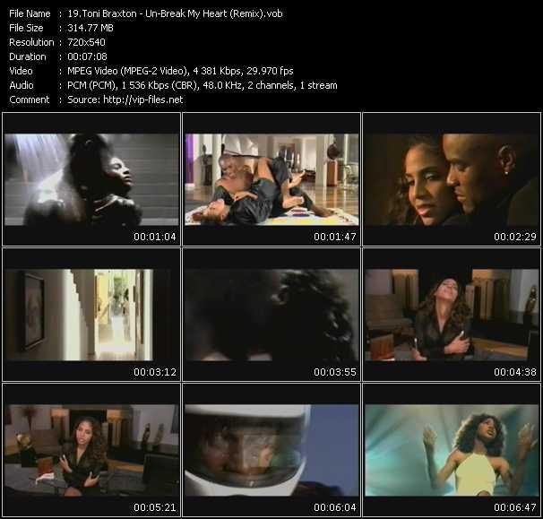 Screenshot of Music Video Toni Braxton - Un-Break My Heart (Remix)