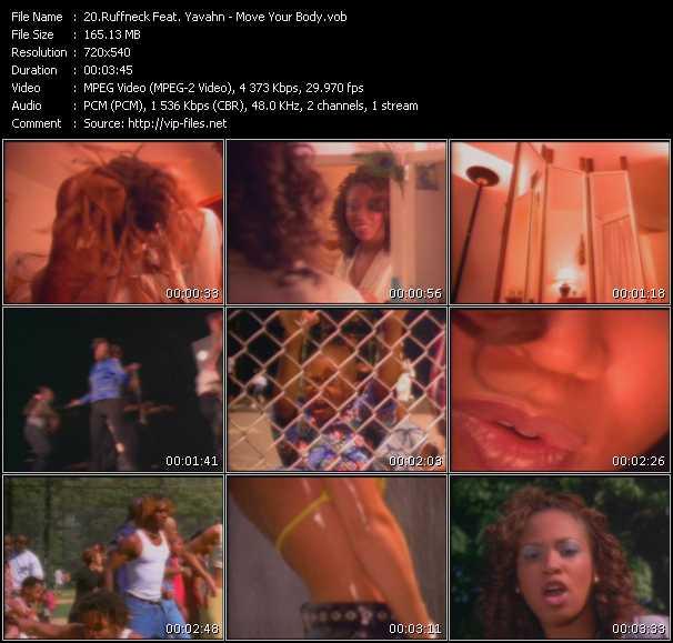 Screenshot of Music Video Ruffneck Feat. Yavahn - Move Your Body