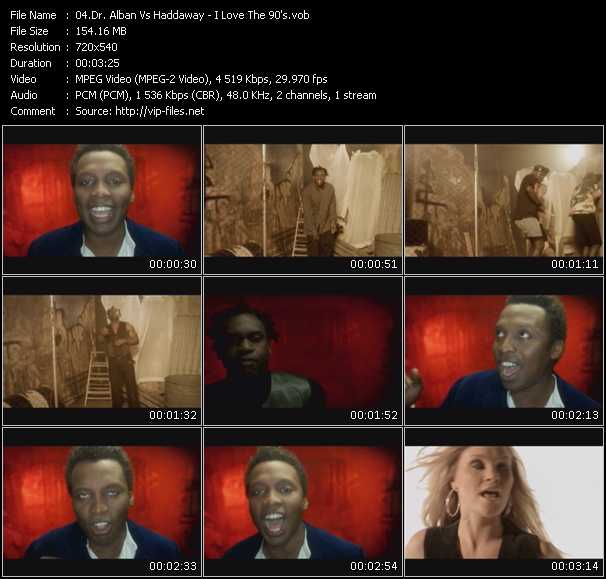 Screenshot of Music Video Dr. Alban Vs. Haddaway - I Love The 90's