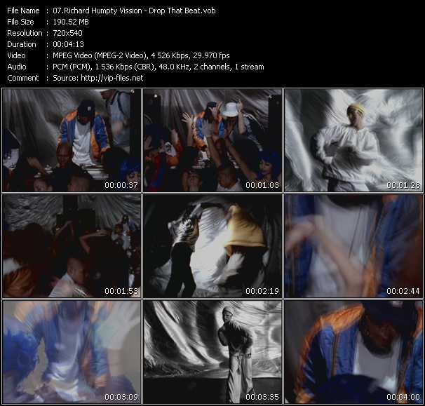 Screenshot of Music Video Richard Humpty Vission - Drop That Beat