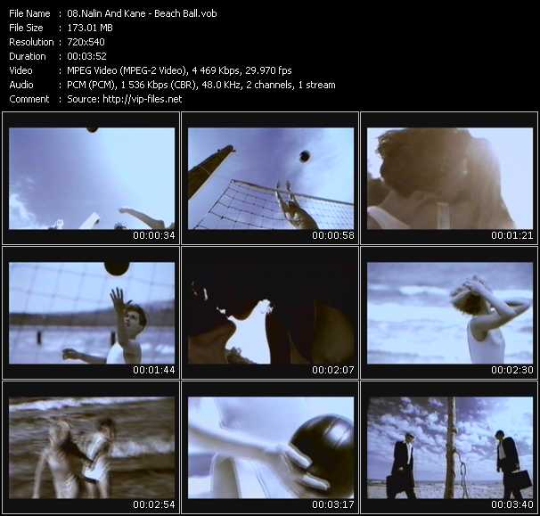 Screenshot of Music Video Nalin And Kane - Beach Ball