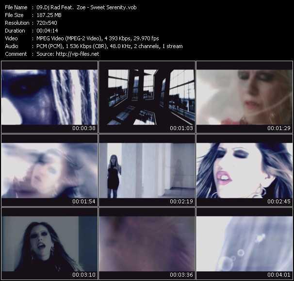 Screenshot of Music Video Dj Rad Feat. Zoe - Sweet Serenity