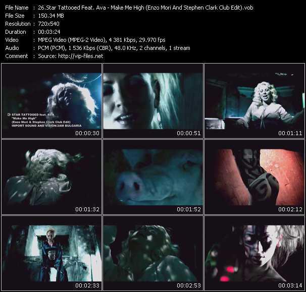 Screenshot of Music Video Star Tattooed Feat. Ava - Make Me High (Enzo Mori And Stephen Clark Club Edit)