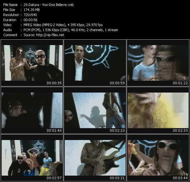 Screenshot of Music Video Datura - Voo-Doo Believe?