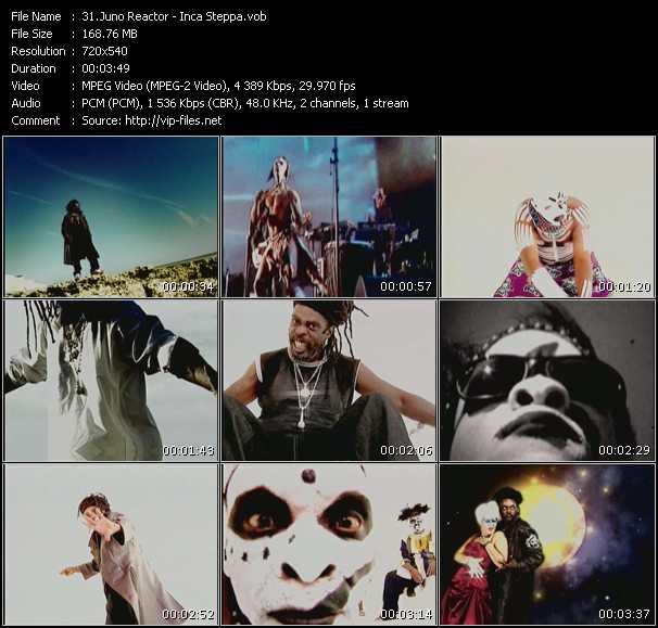 Screenshot of Music Video Juno Reactor - Inca Steppa