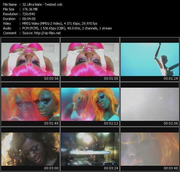 Screenshot of Music Video Ultra Nate - Twisted