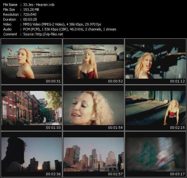 Screenshot of Music Video Jes - Heaven