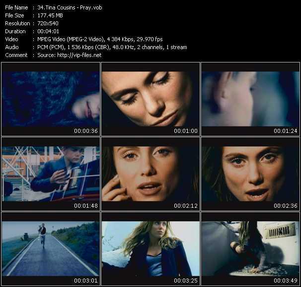 Screenshot of Music Video Tina Cousins - Pray