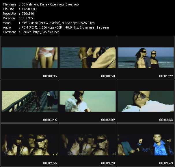 Screenshot of Music Video Nalin And Kane - Open Your Eyes