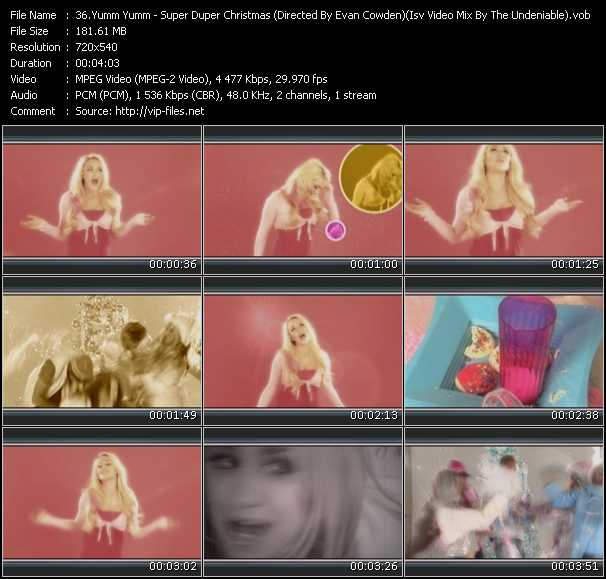 Screenshot of Music Video Yumm Yumm - Super Duper Christmas (Directed By Evan Cowden (Isv Video Mix By The Undeniable)