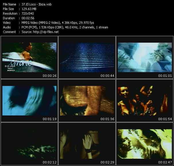 Screenshot of Music Video El Loco - Ibiza