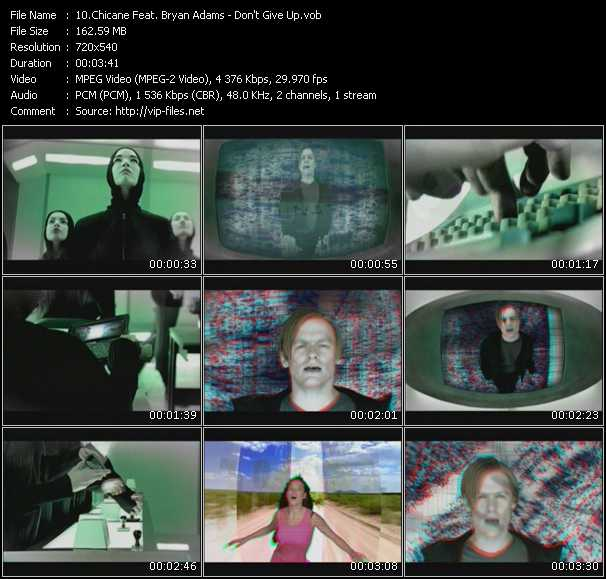 Screenshot of Music Video Chicane - Don't Give Up