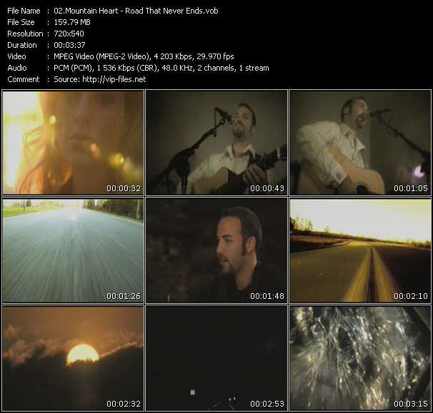 Screenshot of Music Video Mountain Heart - Road That Never Ends