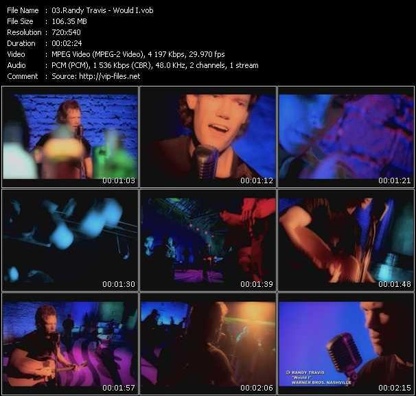Screenshot of Music Video Randy Travis - Would I