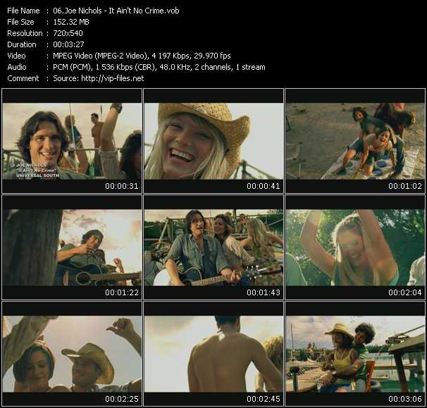 Screenshot of Music Video Joe Nichols - It Ain't No Crime