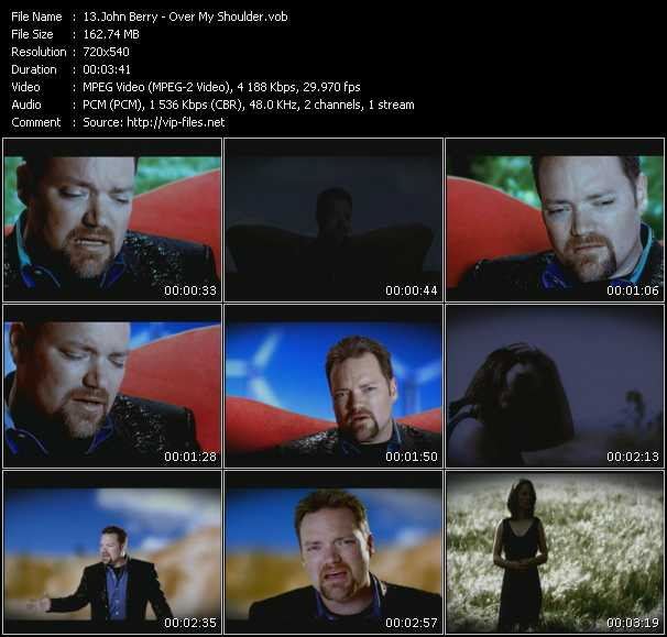 Screenshot of Music Video John Berry - Over My Shoulder