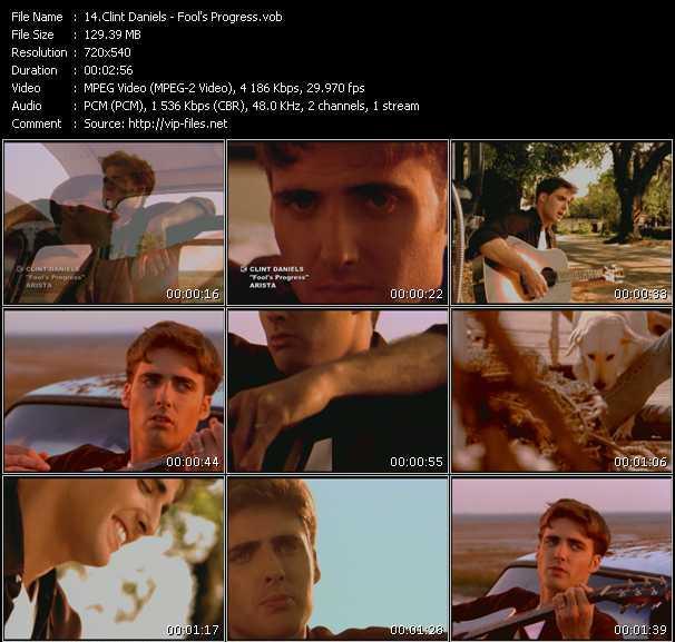 Screenshot of Music Video Clint Daniels - Fool's Progress