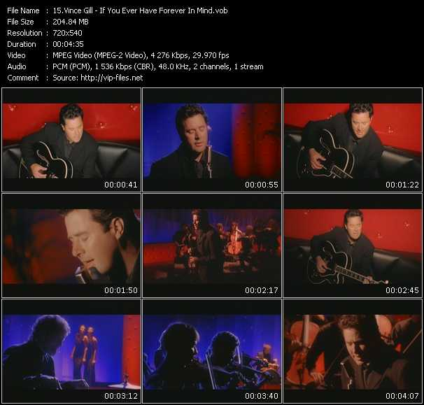 Screenshot of Music Video Vince Gill - If You Ever Have Forever In Mind