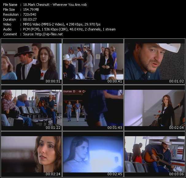 Screenshot of Music Video Mark Chesnutt - Wherever You Are