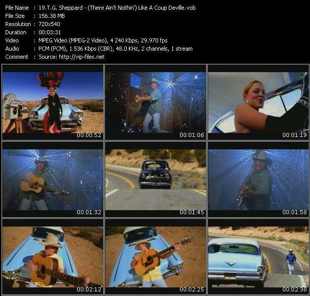 Screenshot of Music Video T.G. Sheppard - (There Ain't Nothin') Like A Coup Deville