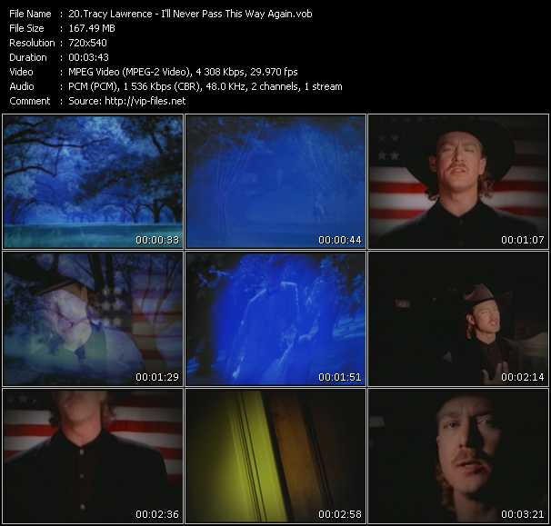 Screenshot of Music Video Tracy Lawrence - I'll Never Pass This Way Again