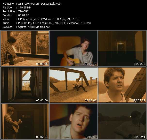 Screenshot of Music Video Bruce Robison - Desperately