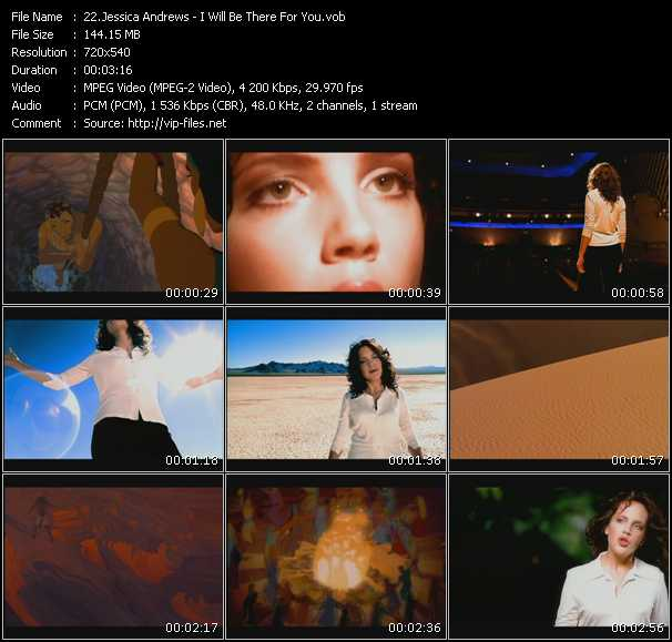 Screenshot of Music Video Jessica Andrews - I Will Be There For You