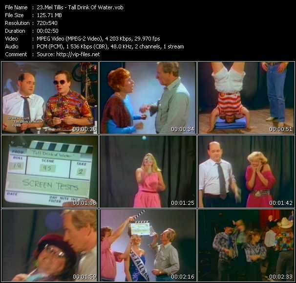 Screenshot of Music Video Mel Tillis - Tall Drink Of Water