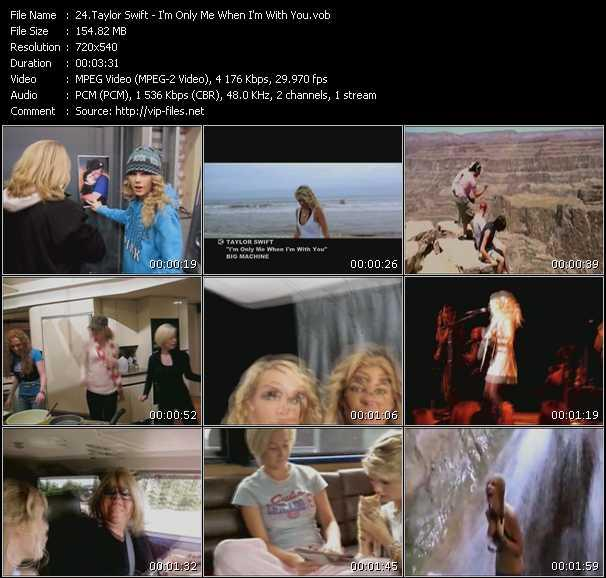 Screenshot of Music Video Taylor Swift - I'm Only Me When I'm With You