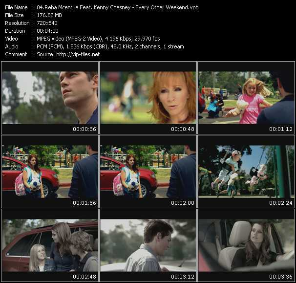 Screenshot of Music Video Reba McEntire Feat. Kenny Chesney - Every Other Weekend