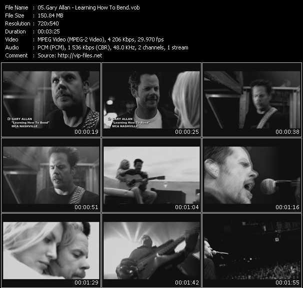 Screenshot of Music Video Gary Allan - Learning How To Bend