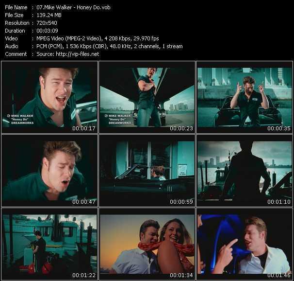 Screenshot of Music Video Mike Walker - Honey Do