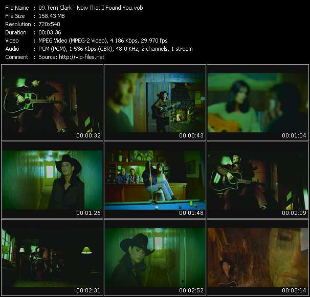 Screenshot of Music Video Terri Clark - Now That I Found You