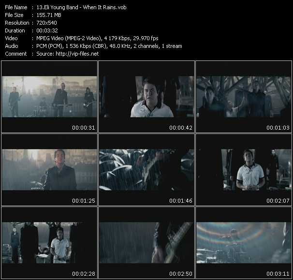 Screenshot of Music Video Eli Young Band - When It Rains