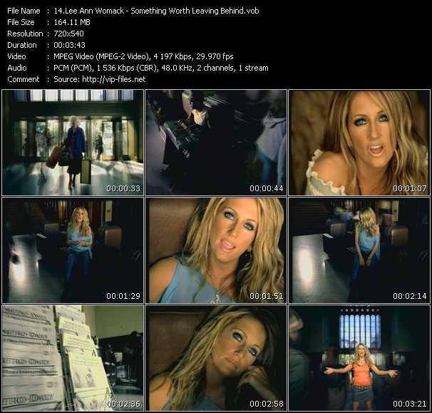 Screenshot of Music Video Lee Ann Womack - Something Worth Leaving Behind