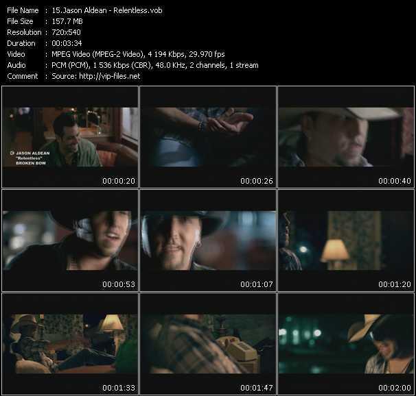Screenshot of Music Video Jason Aldean - Relentless