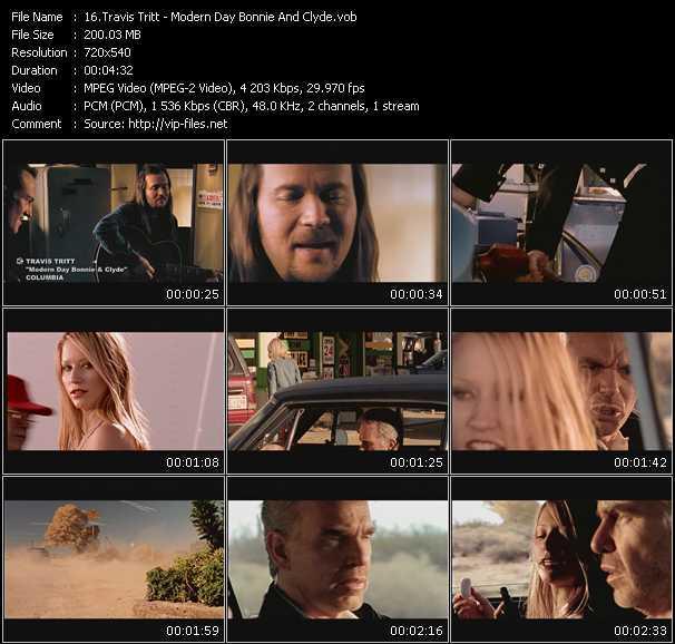 Screenshot of Music Video Travis Tritt - Modern Day Bonnie And Clyde