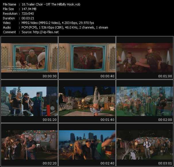 Screenshot of Music Video Trailer Choir - Off The Hillbilly Hook