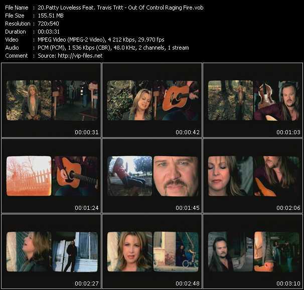 Screenshot of Music Video Patty Loveless Feat. Travis Tritt - Out Of Control Raging Fire