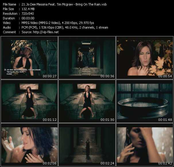 Screenshot of Music Video Jo Dee Messina Feat. Tim McGraw - Bring On The Rain