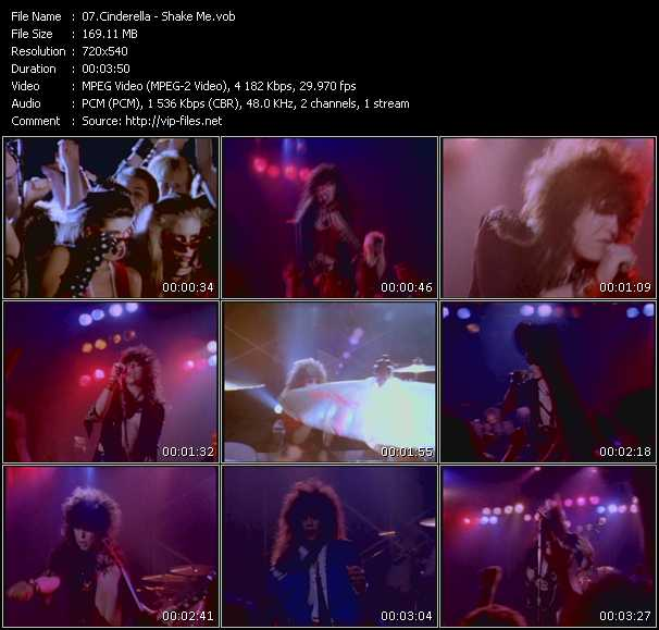 Screenshot of Music Video Cinderella - Shake Me