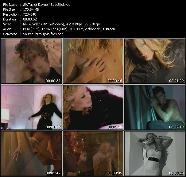Screenshot of Music Video Taylor Dayne - Beautiful
