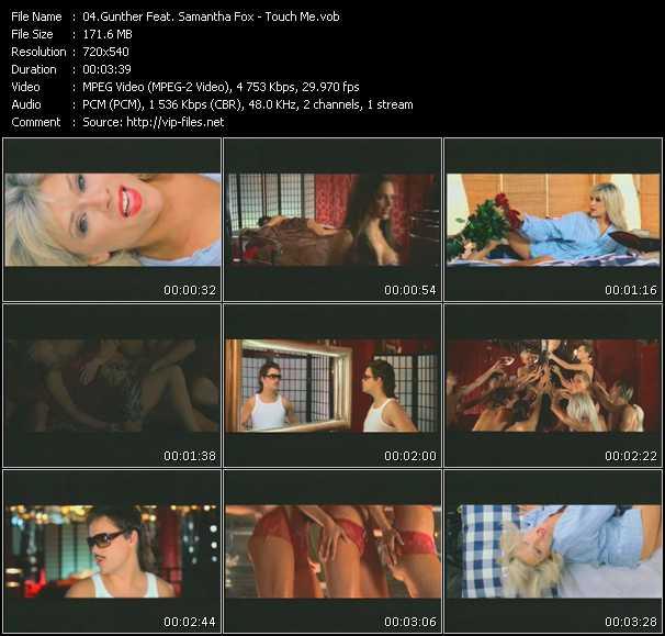 Screenshot of Music Video Gunther Feat. Samantha Fox - Touch Me