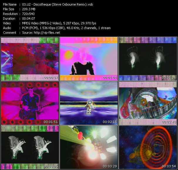 Screenshot of Music Video U2 - Discotheque (Steve Osbourne Remix)