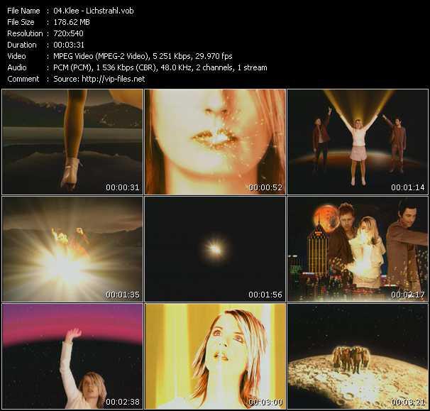 Screenshot of Music Video Klee - Lichstrahl