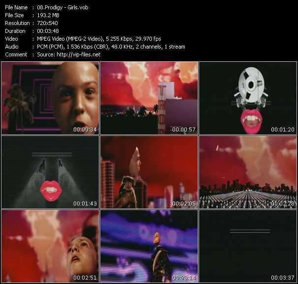 Screenshot of Music Video Prodigy - Girls