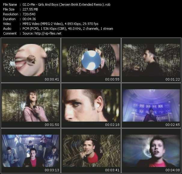 Screenshot of Music Video D-Me - Girls And Boys (Jeroen Brink Extended Remix)