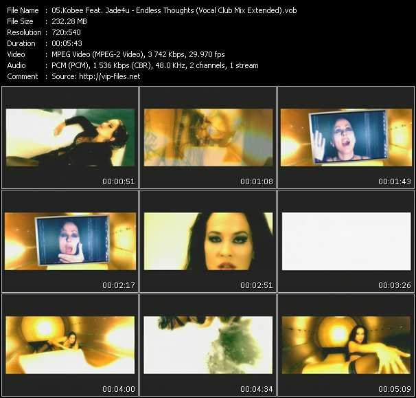 Screenshot of Music Video Kobee Feat. Jade 4 U - Endless Thoughts (Vocal Club Mix Extended)